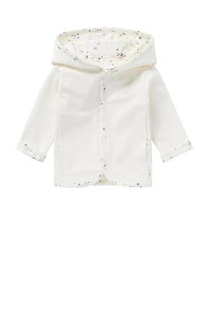 baby reversible vest Bonny wit/antraciet