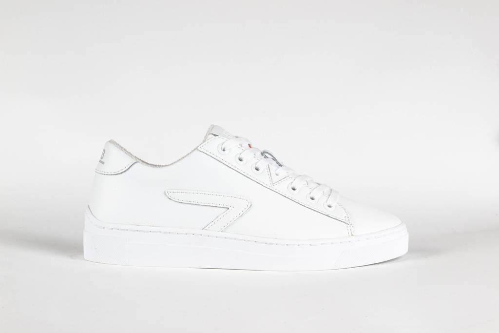 HUB HOOK LW Z-STITCH  leren sneakers wit, Wit