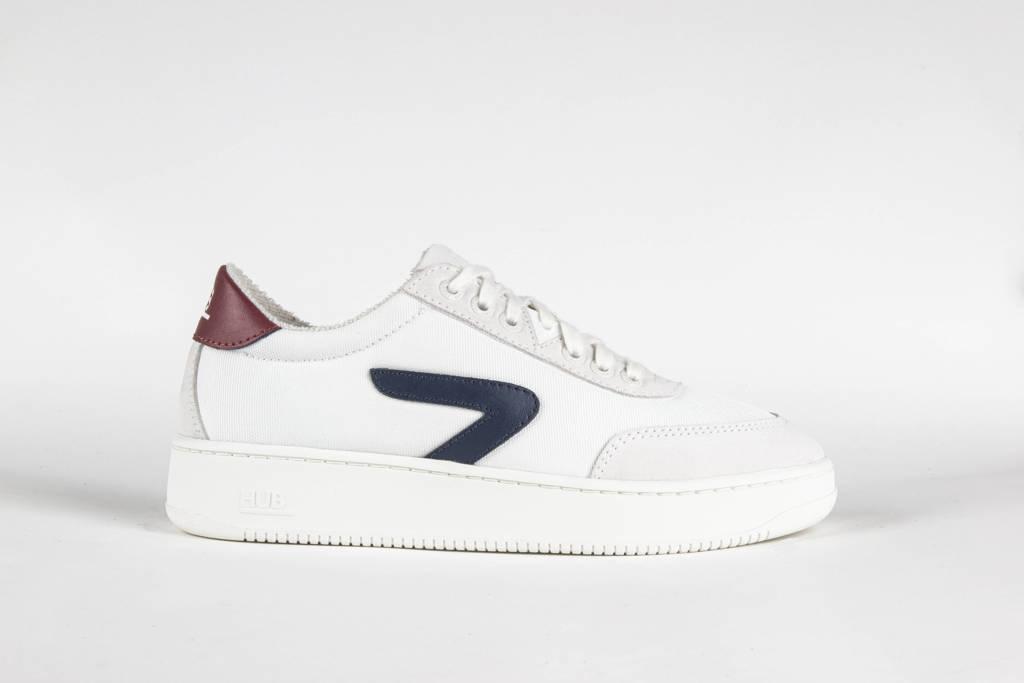 HUB Baseline-W  sneakers wit/blauw/rood, Wit/blauw/rood