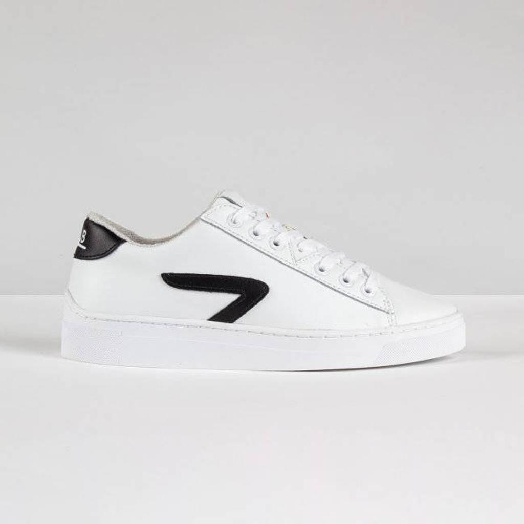 HUB HOOK LW Z-STITCH  leren sneakers wit/zwart, Wit/zwart