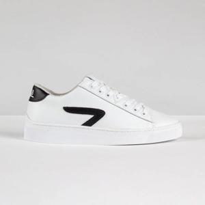 HOOK LW Z-STITCH  leren sneakers wit/zwart