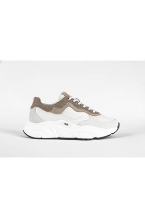 Rock  leren chunky sneakers off white/beige