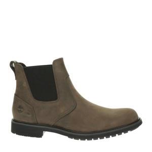 Stormbuck  nubuck chelsea boots bruin