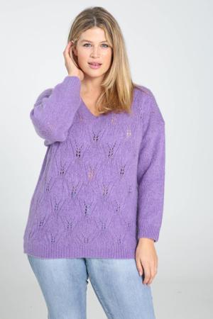 kabeltrui met wol paars