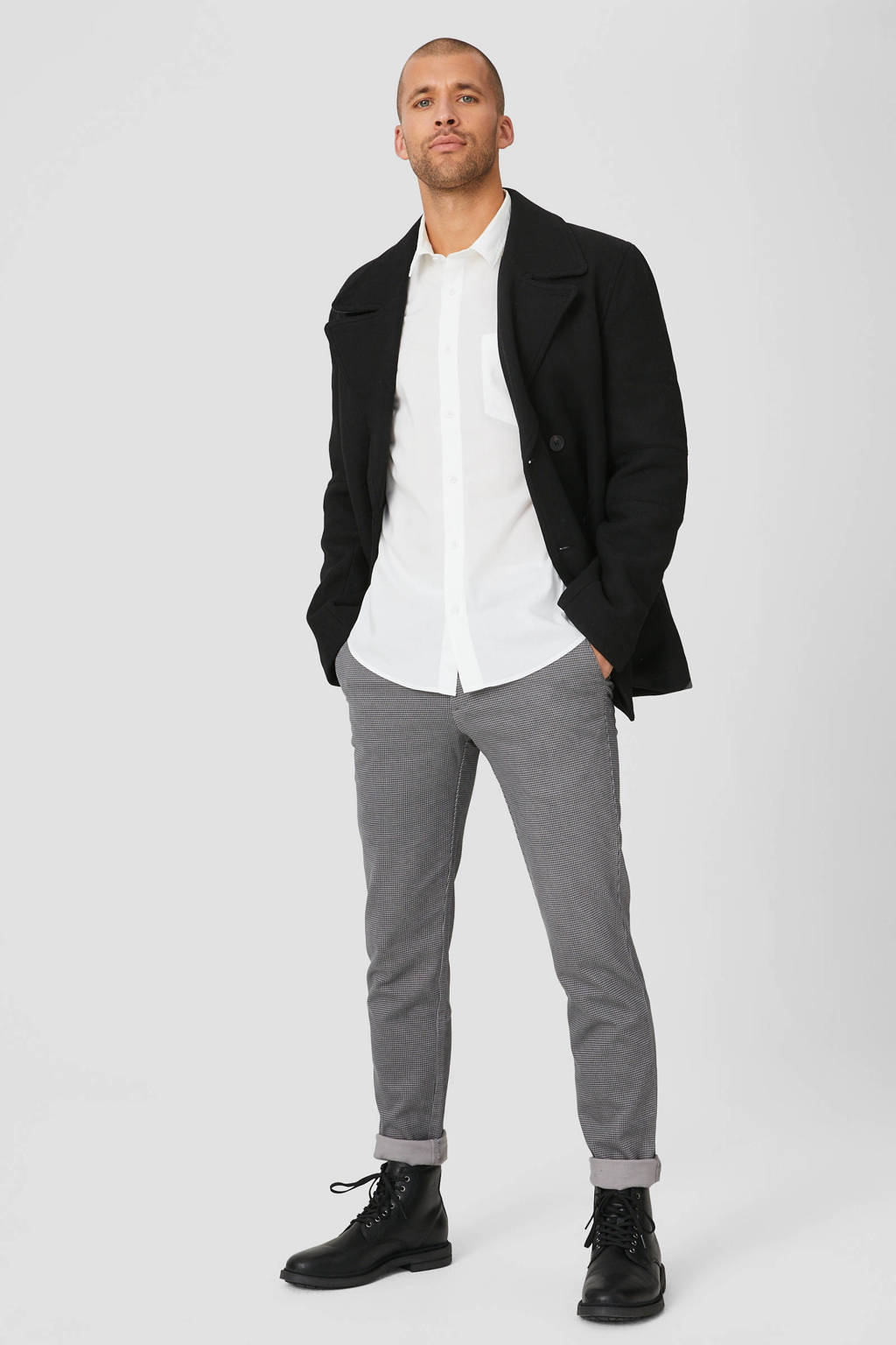 C&A regular fit overhemd wit, Wit