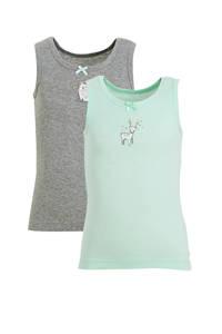 C&A Palomino hemd - set van 2 met print mintgroen/grijs, Mintgroen/grijs