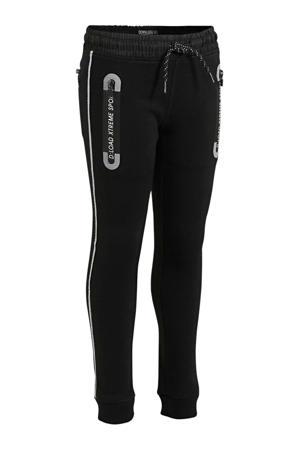 regular fit joggingbroek met biologisch katoen zwart