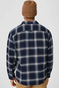 C&A geruit regular fit overhemd donkerblauw, Donkerblauw