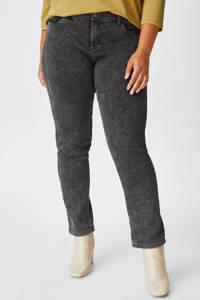 C&A XL Yessica slim fit jeans grijs stonewashed, Grijs stonewashed