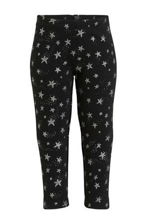 legging met sterren zwart/zilver