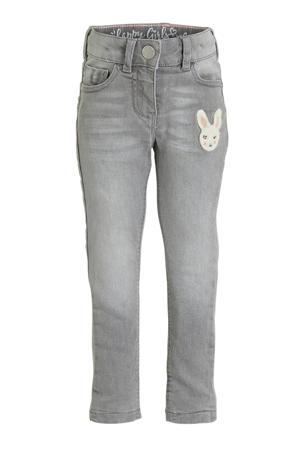 skinny jeans met printopdruk grijs