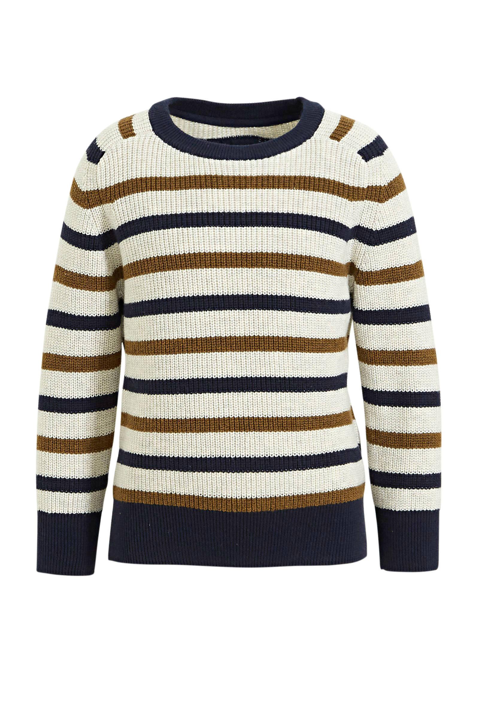 C&A gestreepte trui lichtgrijsblauwrood | wehkamp