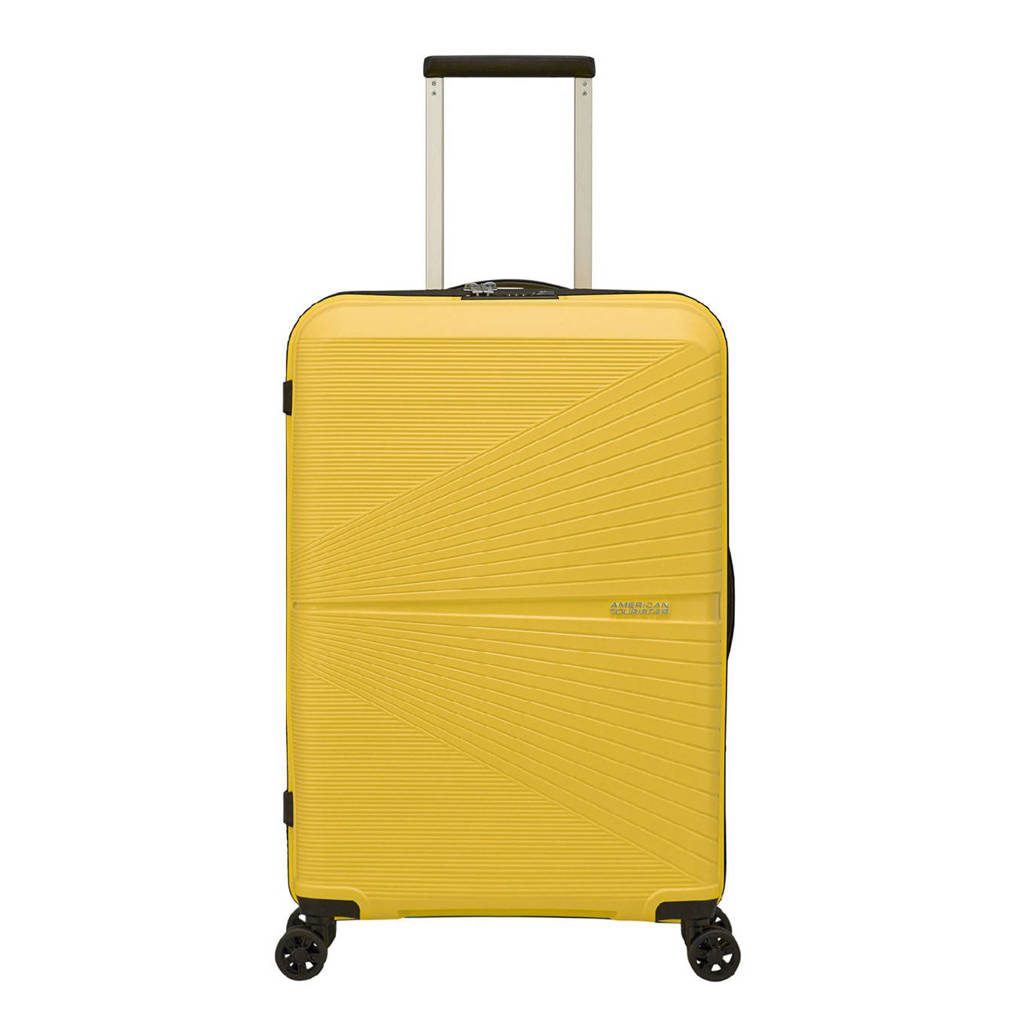 American Tourister  trolley Airconic Spinner 67 cm. limegroen, Geel