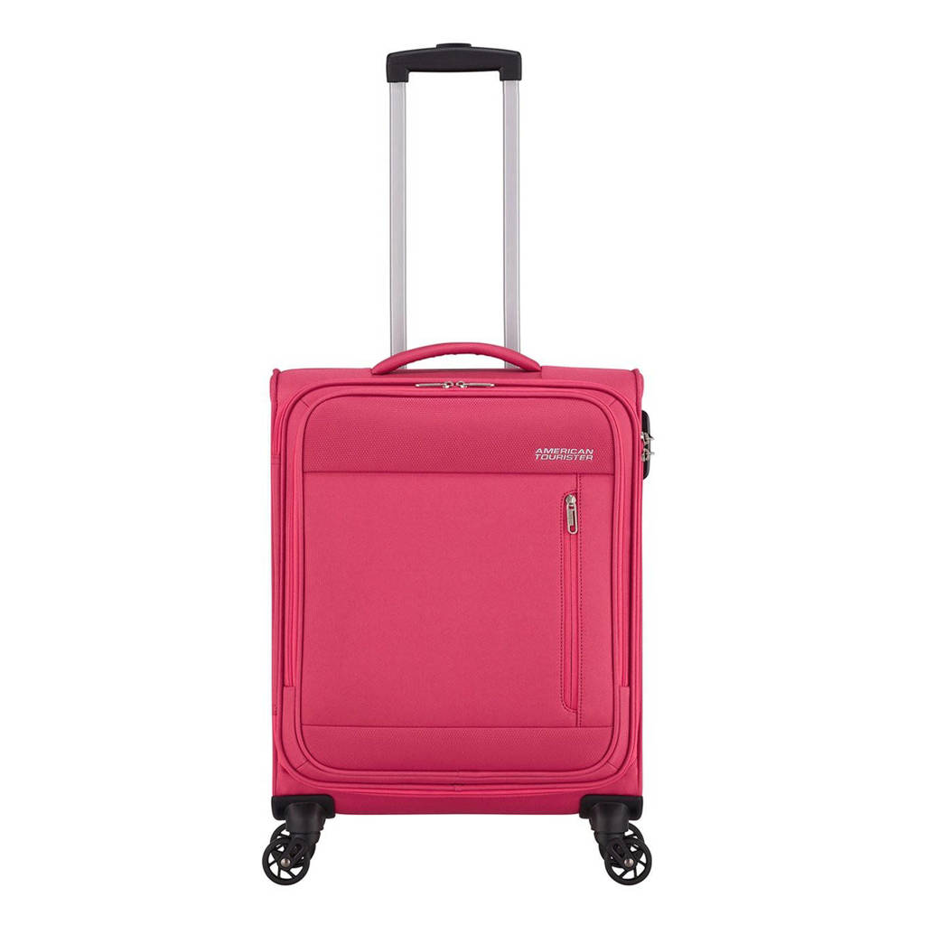 American Tourister  trolley Heat Wave Spinner 55 cm. fuchsia, Paars