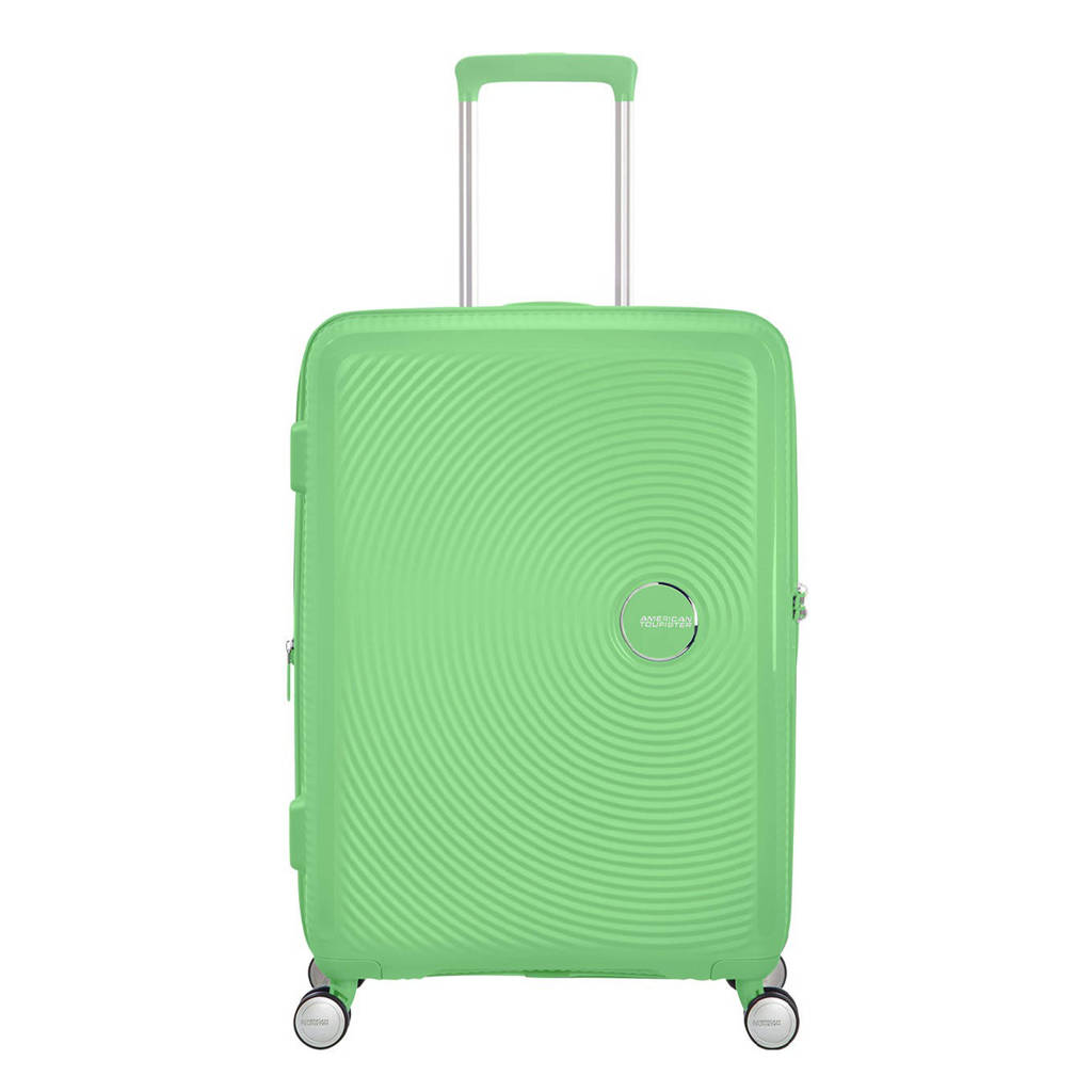 American Tourister  trolley Soundbox Spinner 67 cm. Expandable groen, Groen