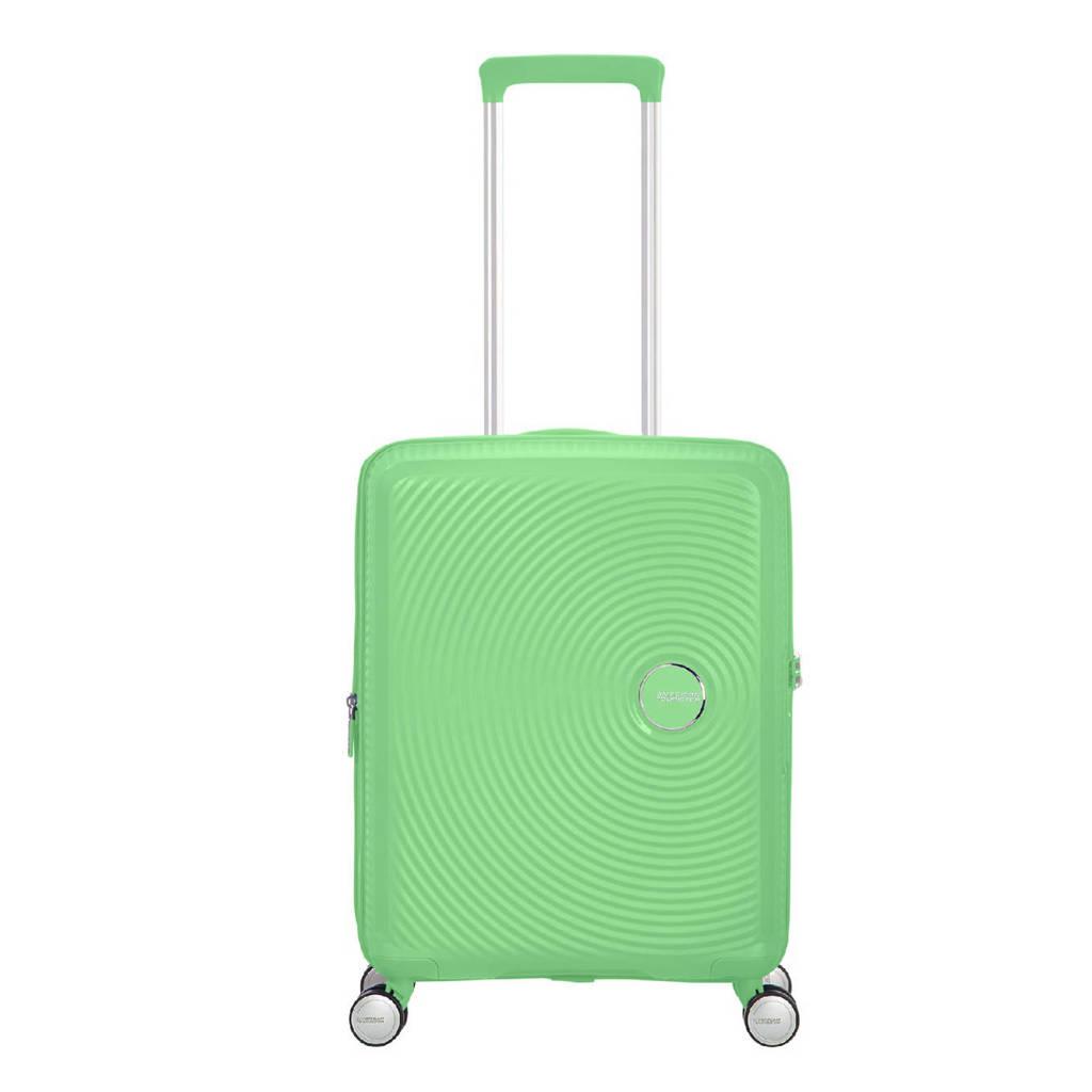 American Tourister  trolley Soundbox Spinner 55 cm. Expandable groen, Groen