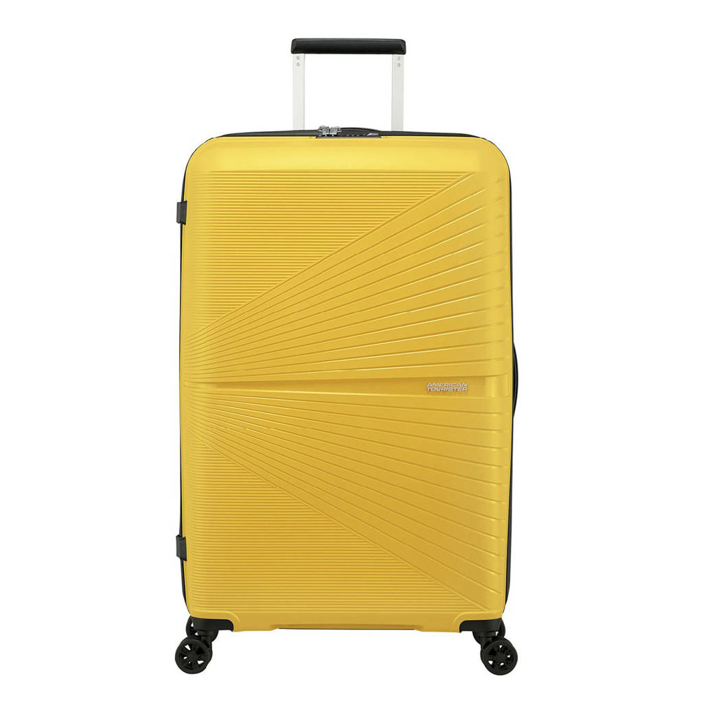 American Tourister  trolley Airconic Spinner 77 cm. geel, Geel
