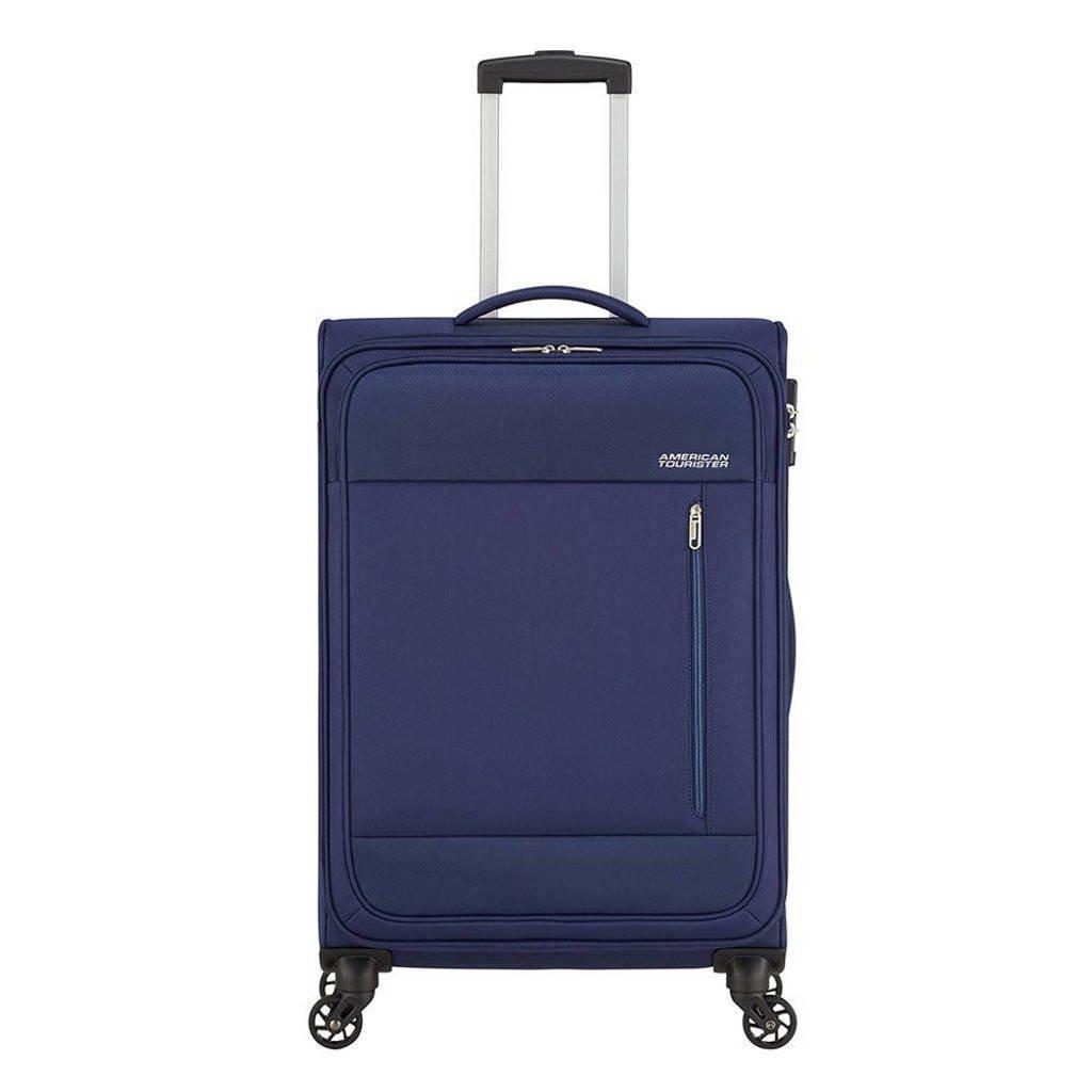 American Tourister  trolley Heat Wave Spinner 68 cm. donkerblauw, Blauw