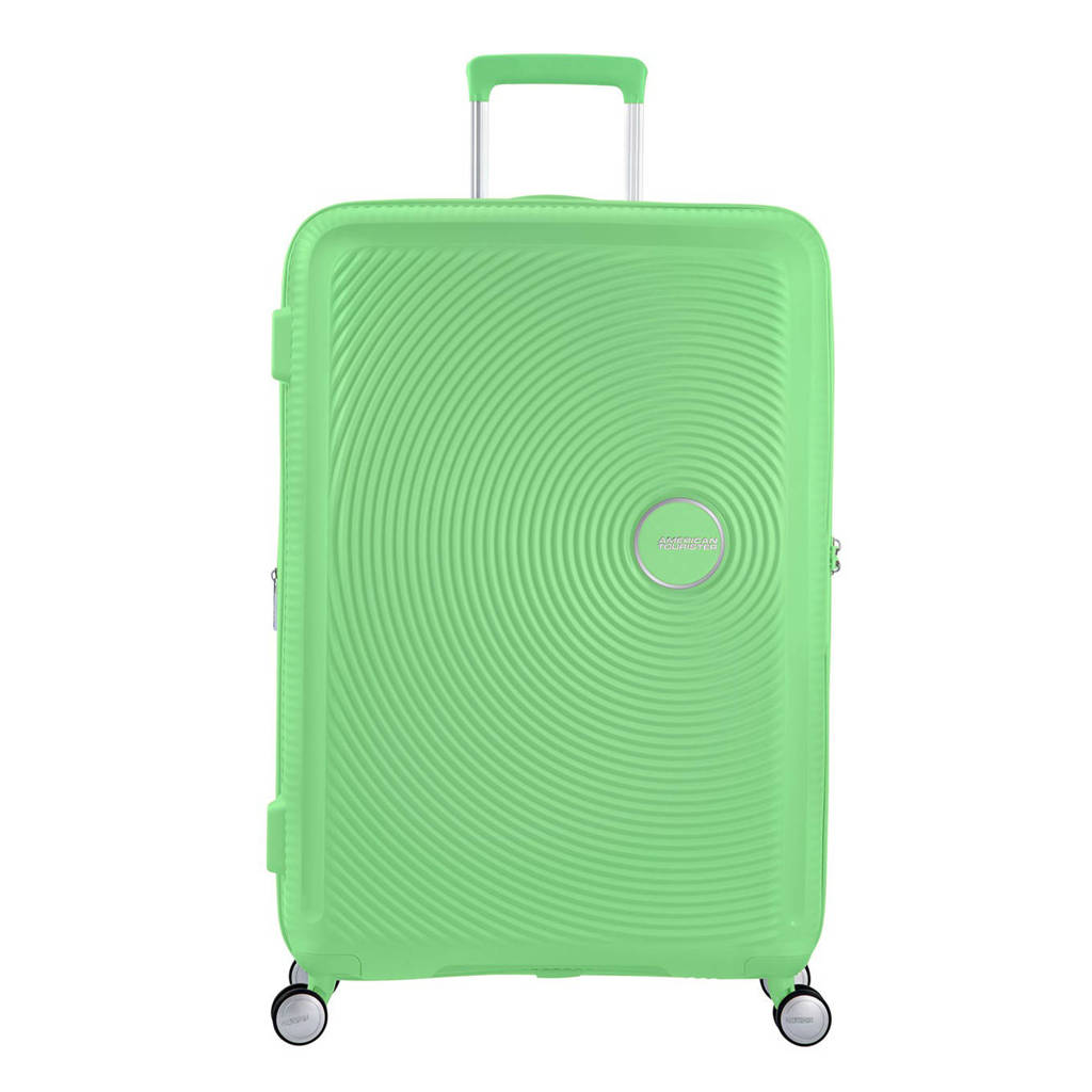 American Tourister  trolley Soundbox Spinner 77 cm. Expandable groen, Groen