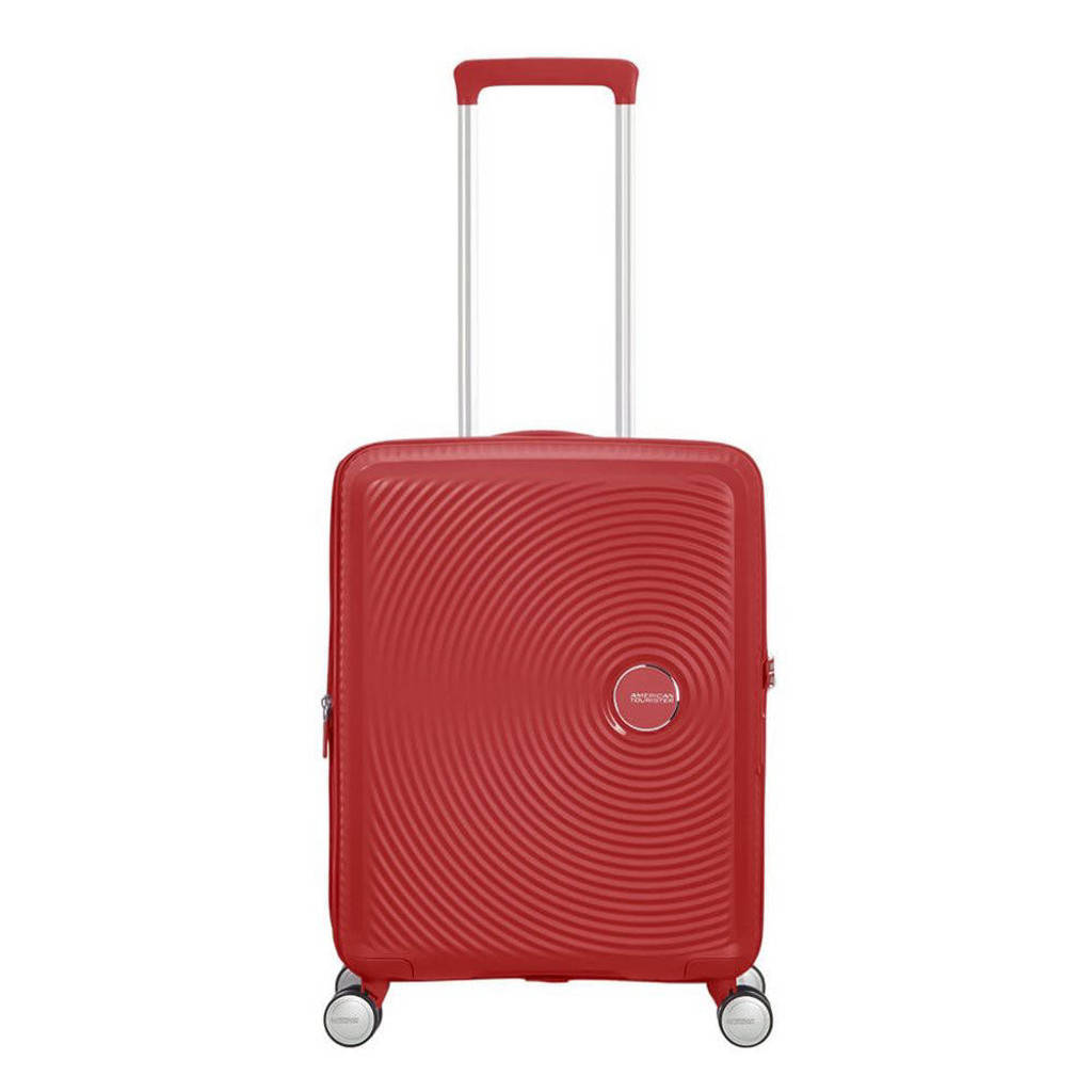 American Tourister  trolley Soundbox Spinner 55 cm. Expandable koraalrood, Rood
