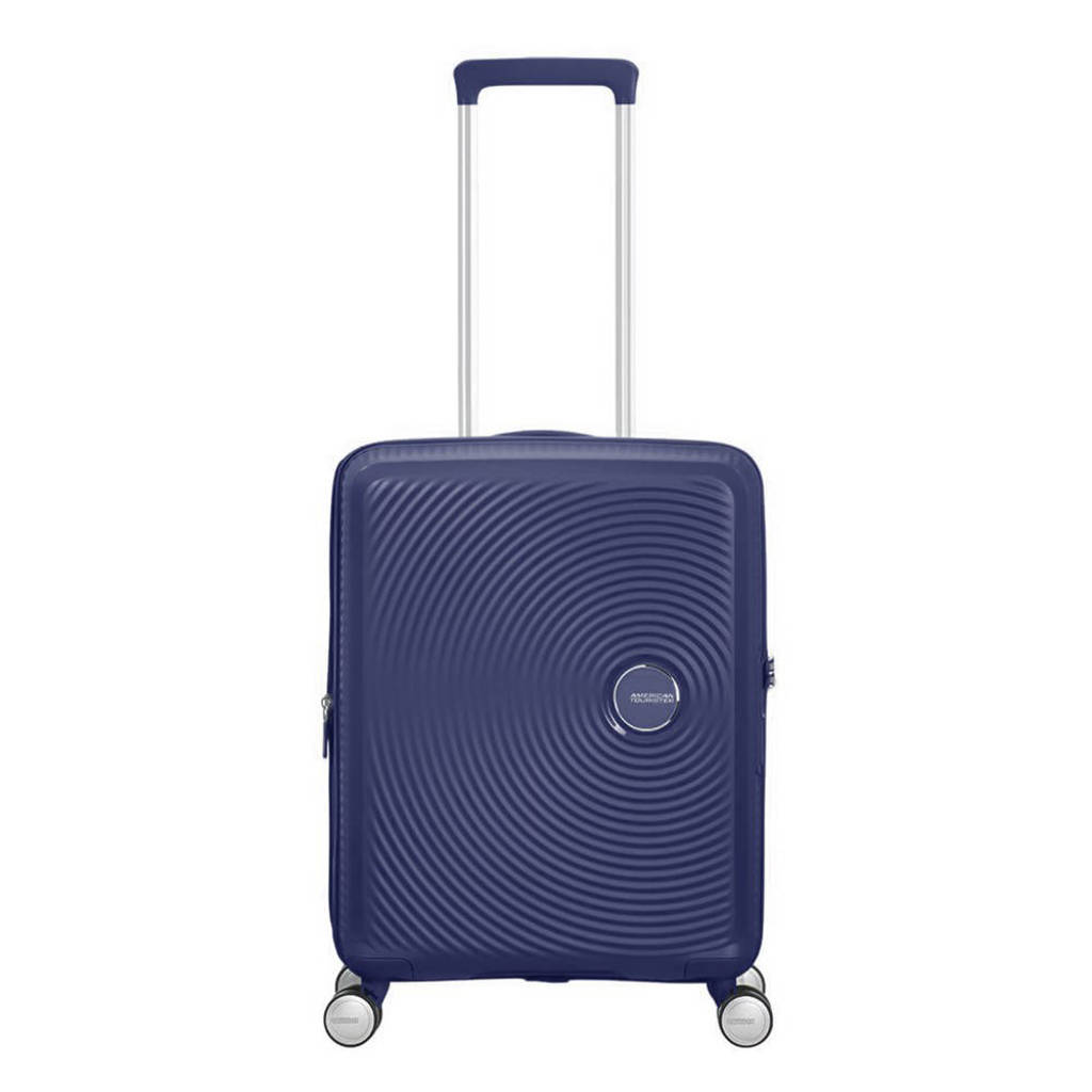 American Tourister  trolley Soundbox Spinner 55 cm. Expandable donkerblauw, Blauw