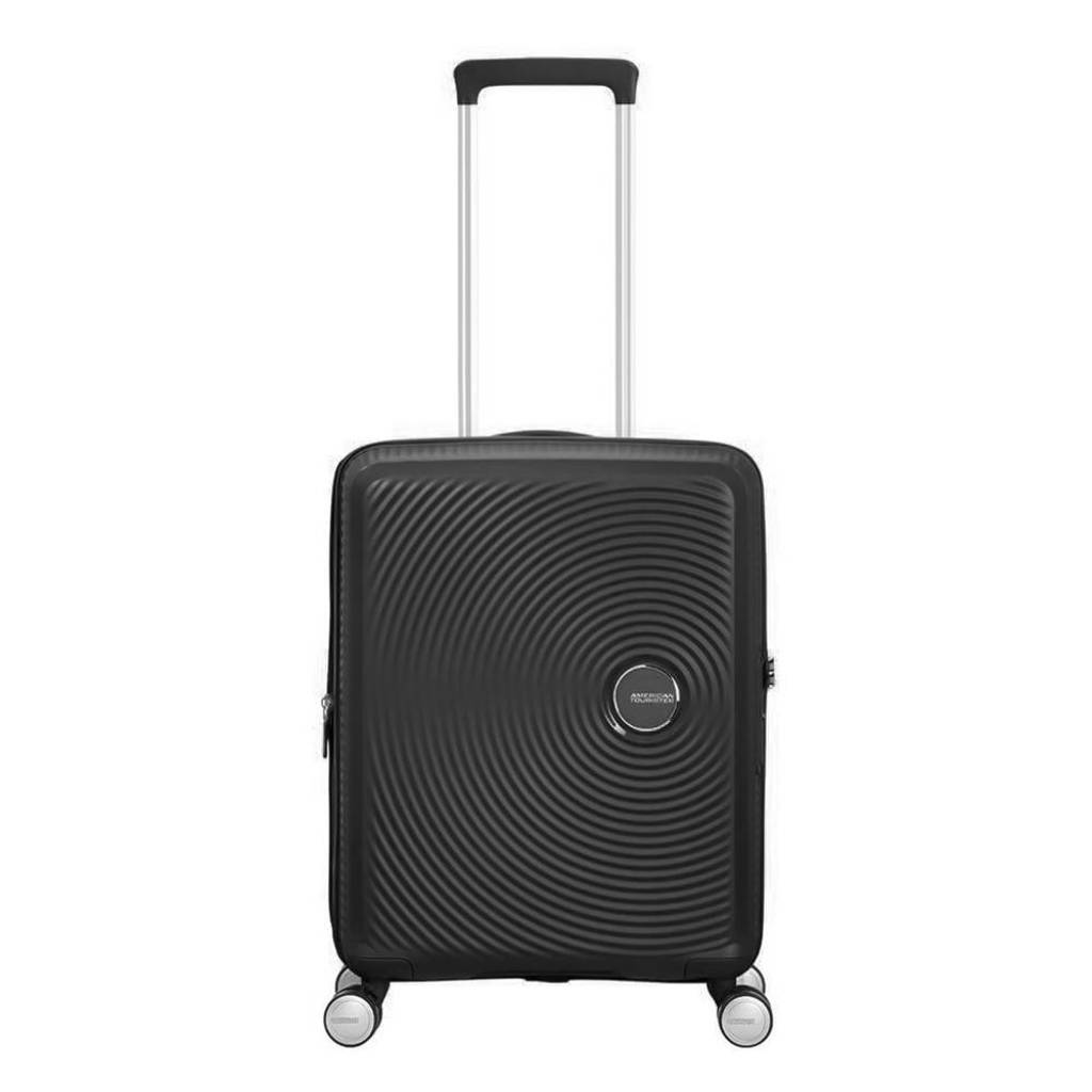 American Tourister  trolley Soundbox Spinner 55 cm. Expandable zwart, Zwart