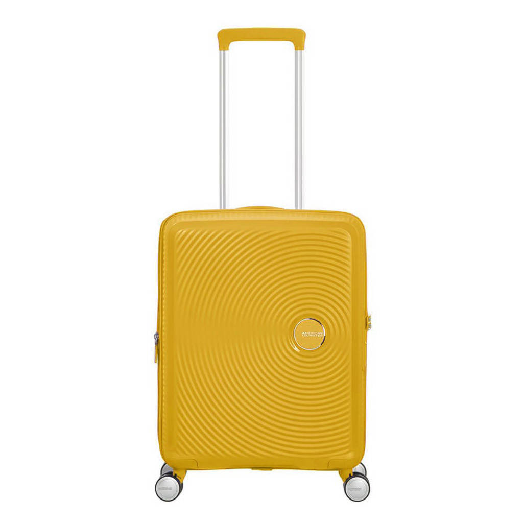 American Tourister  trolley Soundbox Spinner 55 cm. Expandable geel, Geel