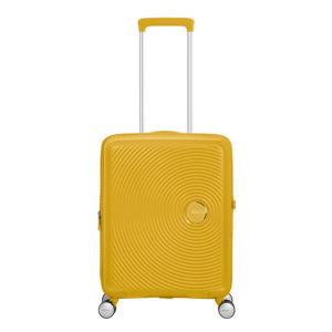trolley Soundbox Spinner 55 cm. Expandable geel