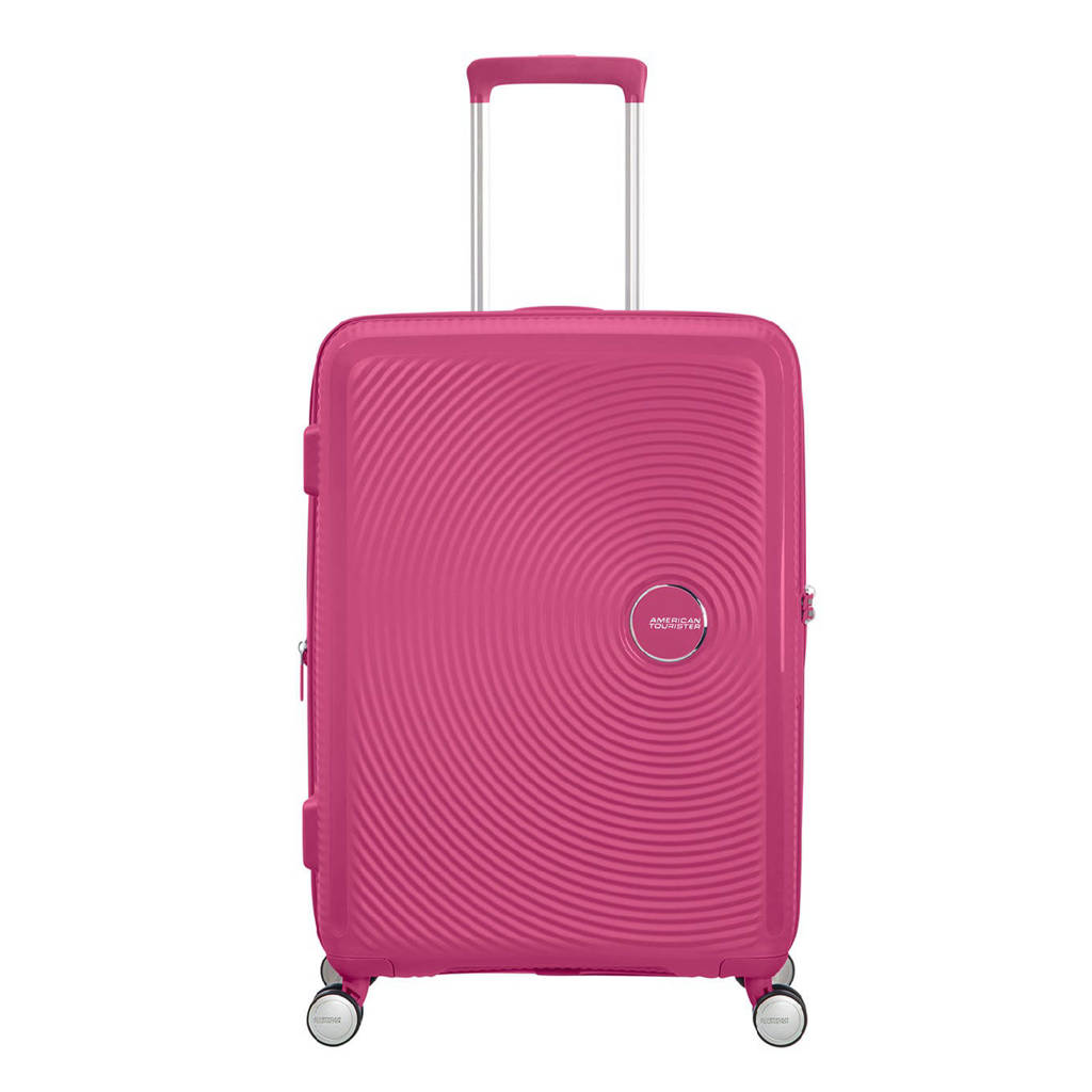 American Tourister  trolley Soundbox Spinner 67 cm. Expandable fuchsia, Paars