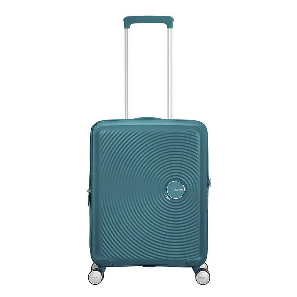 American Tourister  trolley Soundbox Spinner 55 cm. Expandable donkergroen, Groen