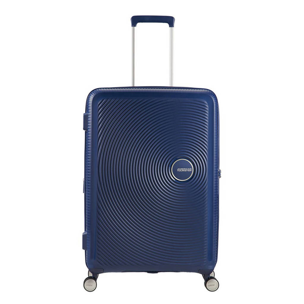 American Tourister  trolley Soundbox Spinner 67 cm. Expandable donkerblauw, Donkerblauw