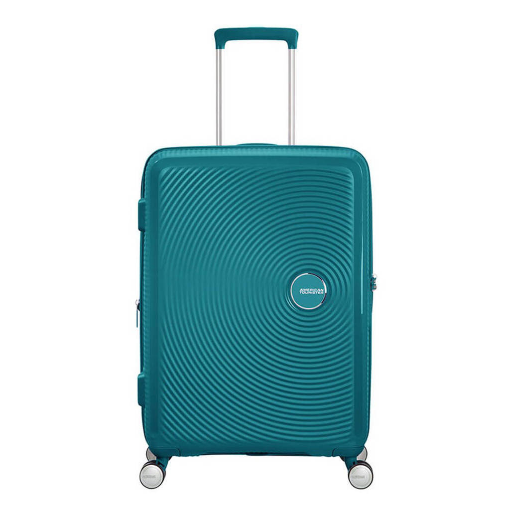 American Tourister  trolley Soundbox Spinner 67 cm. Expandable donkergroen, Groen