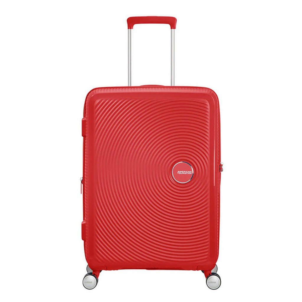 American Tourister  trolley Soundbox Spinner 67 cm. Expandable koraalrood, Rood
