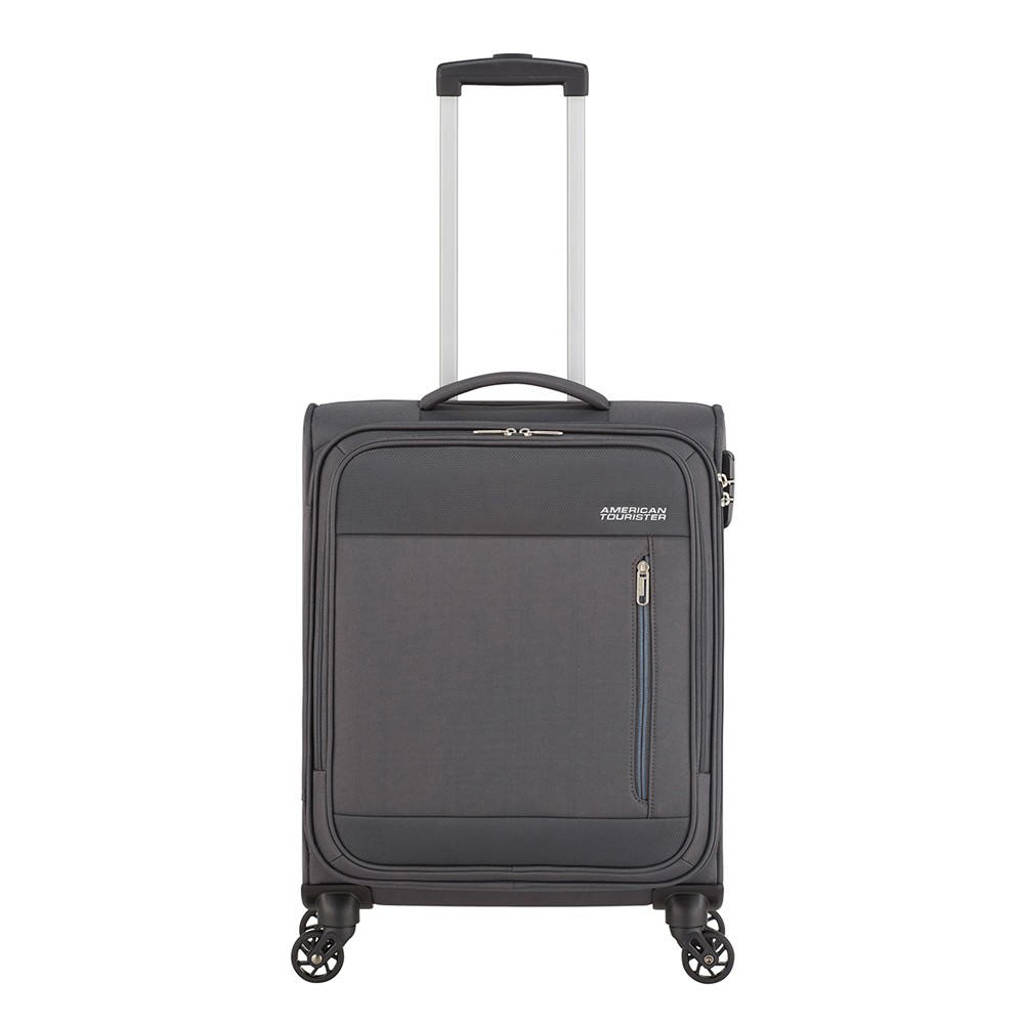 American Tourister  trolley Heat Wave Spinner 55 cm. antraciet, Grijs