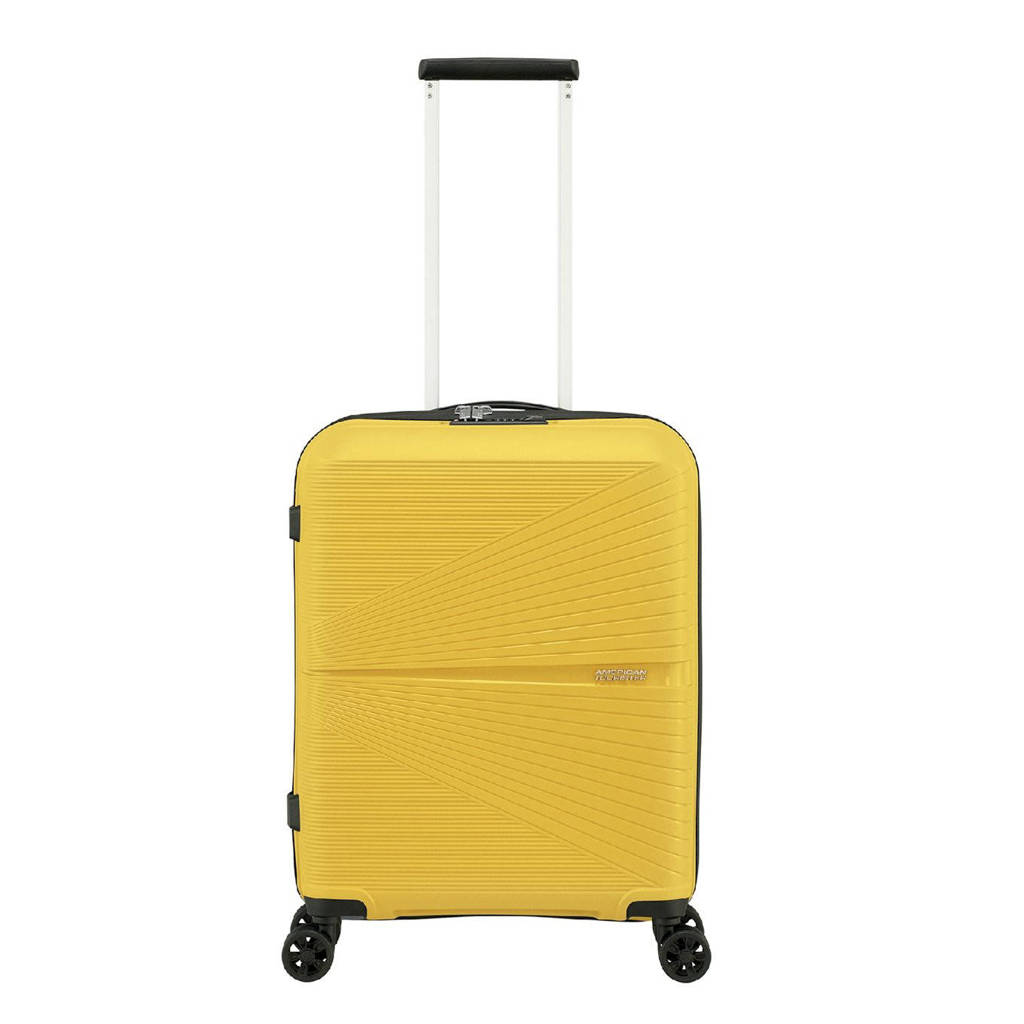 American Tourister  trolley Airconic Spinner 55 cm. limegroen, Geel