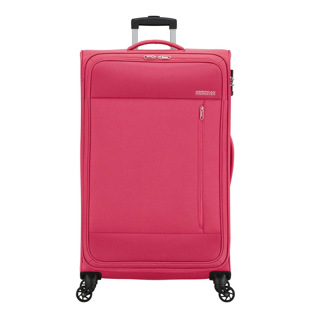 American Tourister  trolley Heat Wave Spinner 80 cm. fuchsia, Paars