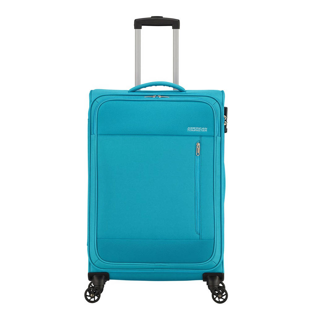 American Tourister  trolley Heat Wave Spinner 68 cm. blauw, Blauw