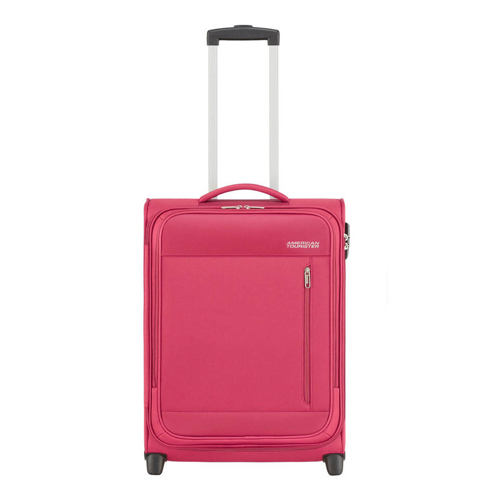 American Tourister  trolley Heat Wave Upright 55 cm. fuchsia, Paars