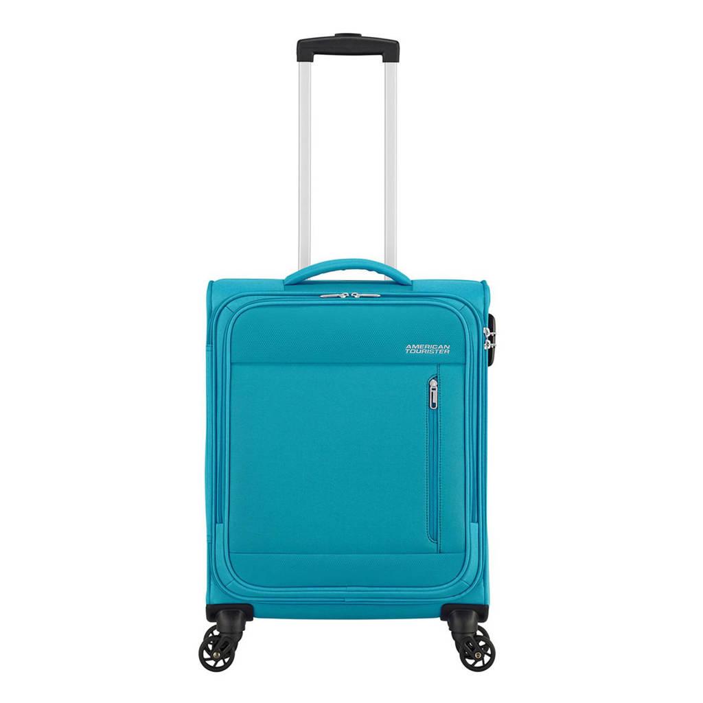 American Tourister  trolley Heat Wave Spinner 55 cm. blauw, Blauw