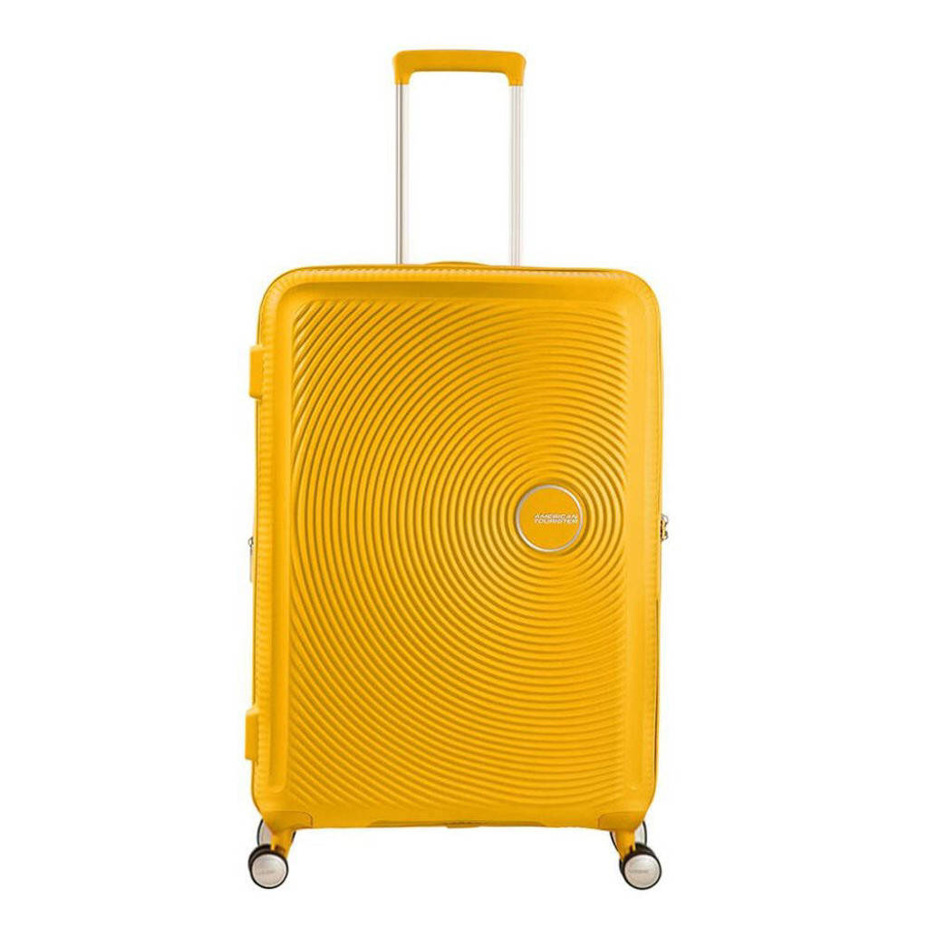 American Tourister  trolley Soundbox Spinner 67 cm. Expandable geel, Geel
