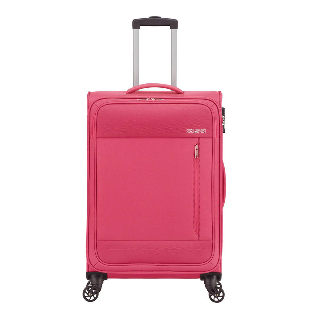 American Tourister  trolley Heat Wave Spinner 68 cm. fuchsia, Paars