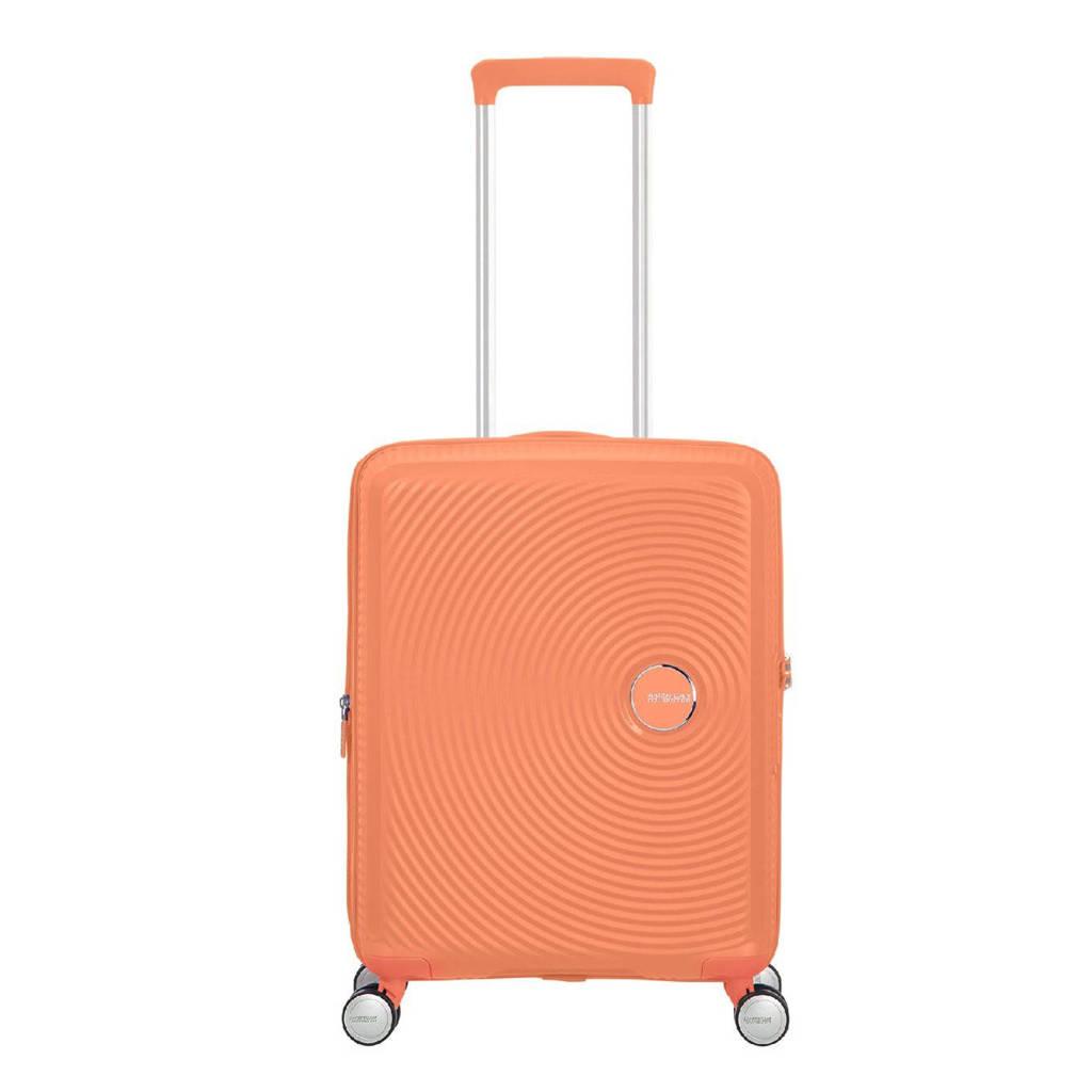 American Tourister  trolley Soundbox Spinner 55 cm. Expandable oranje, Oranje