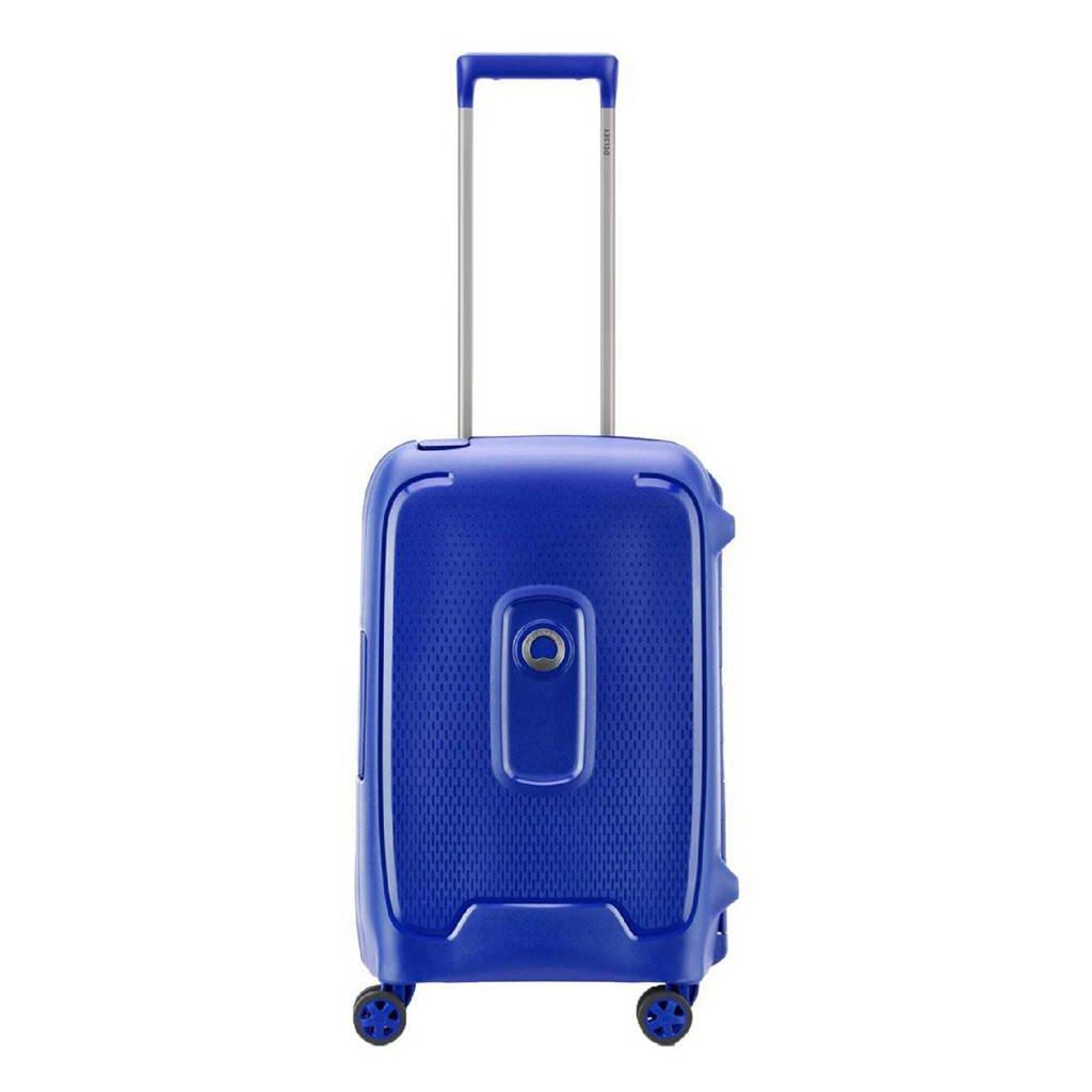 Delsey  trolley Moncey 55 cm. blauw, Blauw