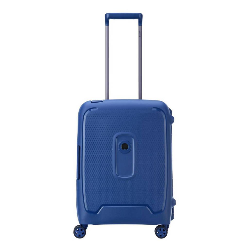 Delsey  trolley Moncey 55 cm. Slim blauw, Blauw