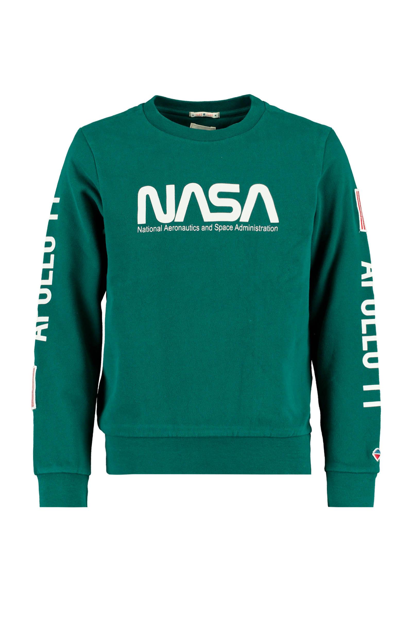 America Today sweater met tekst wit   wehkamp