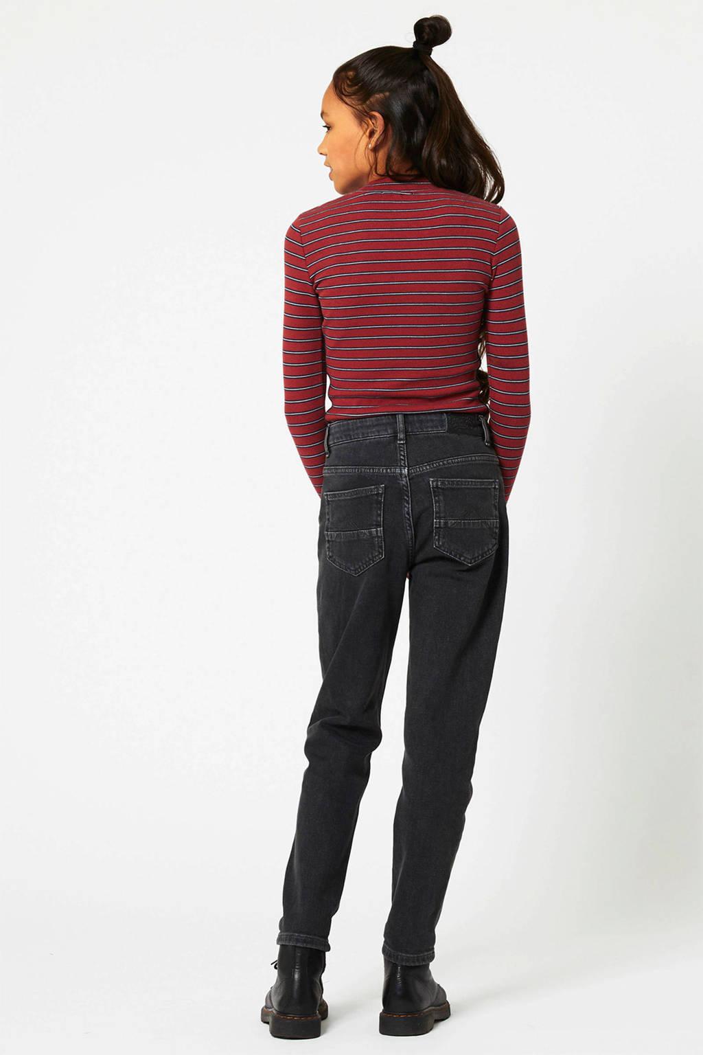 America Today Junior high waist tapered fit jeans Jadan zwart, Zwart