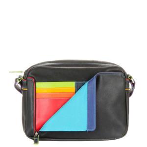 leren Office Collection Small Organiser Cross Body Bag zwart