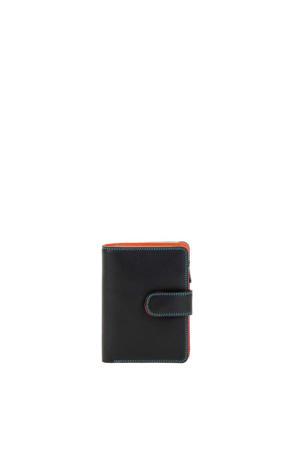 Ladies Medium 10 CC Wallet with Zip Purse zwart