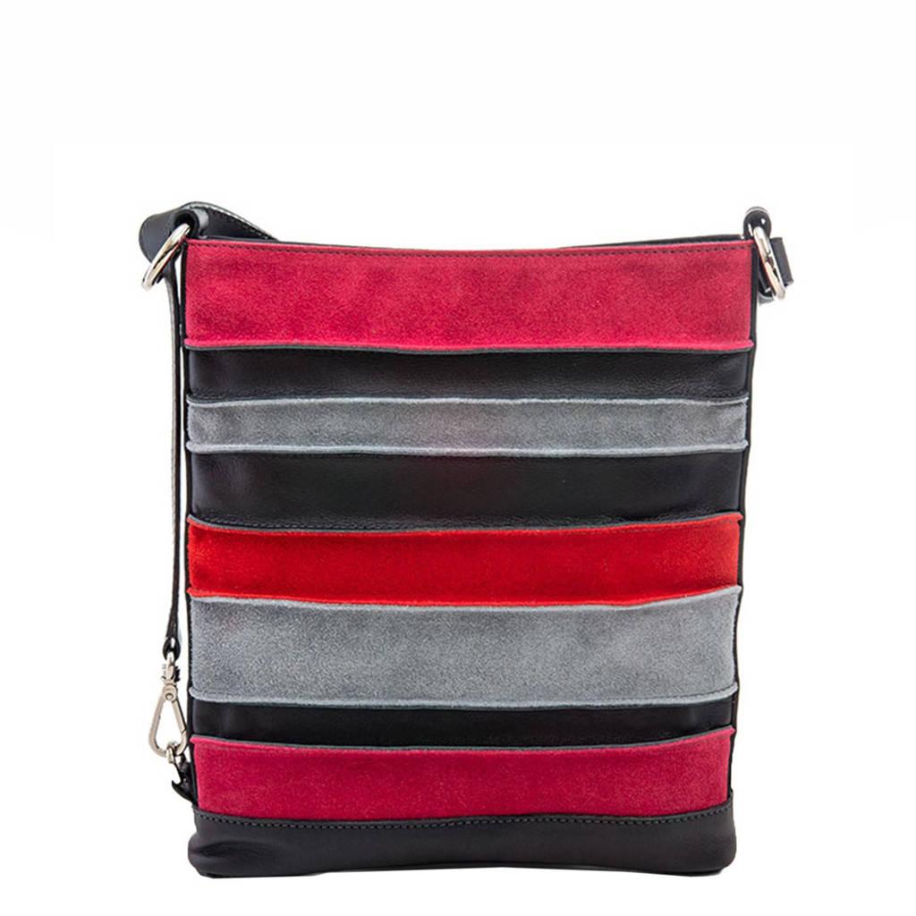 Mywalit  Laguna Cross Body zwart-roze, Multicolor