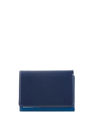 Unisex Medium Tri-fold Wallet denimblauw